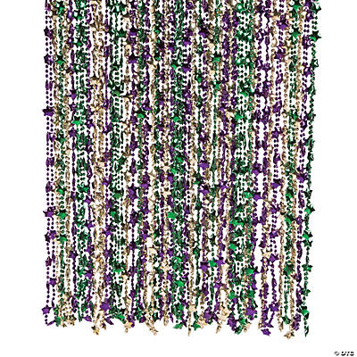 Star Mardi Gras Beads