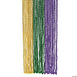 Plastic Metallic Mardi Gras Beads for Parades