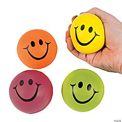 Neon Smile Face Relaxable Squeeze Balls