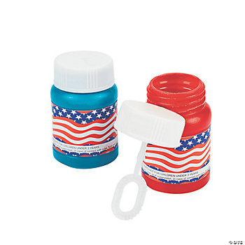 Mini Stars & Stripes Bubble Bottles