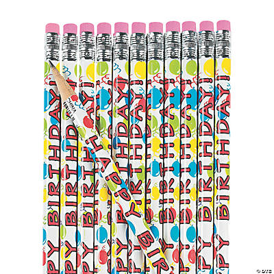"""Happy Birthday"" Pencils"