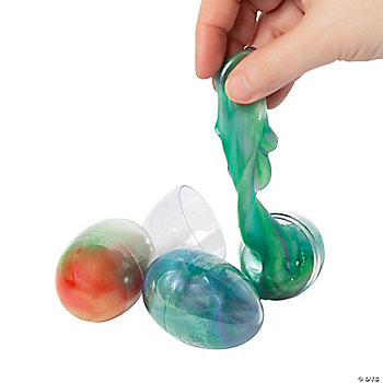 Iridescent Glitter Putty Eggs