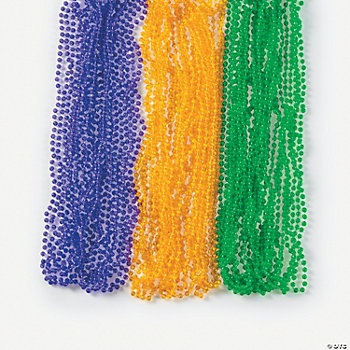 Transparent Mardi Gras Beads