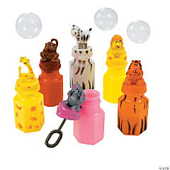 Zoo Animal Character Bubble Bottles