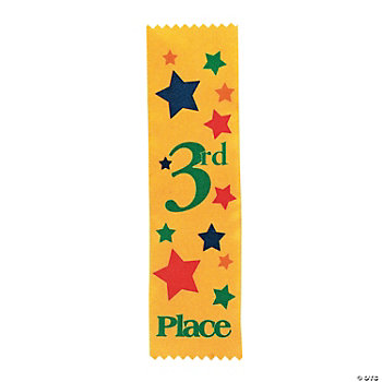 """3rd Place"" Yellow Award Ribbons"