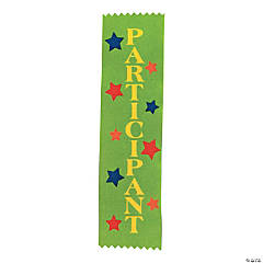 """Participant"" Green Award Ribbons"