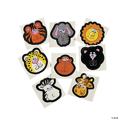 Zoo Animal Stickers with Wiggle Eyes