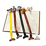 Plush Zoo Animal Bookmarks