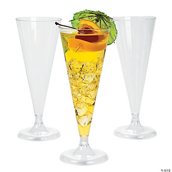Plastic Clear Champagne Flutes