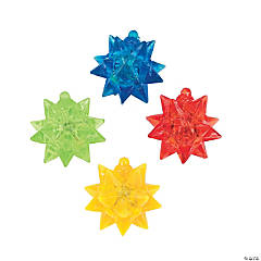 12 Rubber Flashing Star Balls