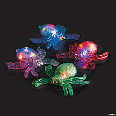 Squishy Flashing Bead-Filled Spiders