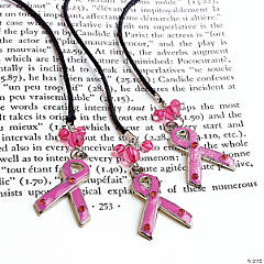 Pink Ribbon Charm Bookmarks