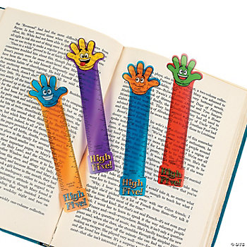 """High Five!"" Ruler Bookmarks"