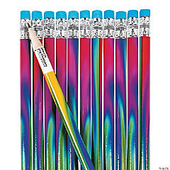 Tie-Dyed Pencils