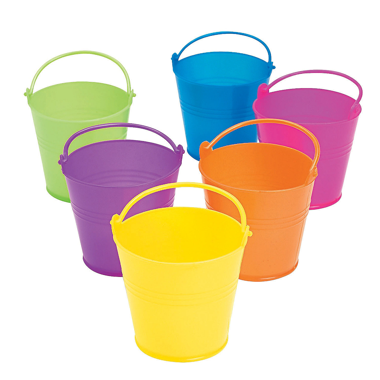 Mini bright pails oriental trading for Small pail buckets