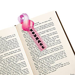 48 Pink Ribbon Bookmarks