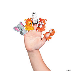 Vinyl Jungle Animal Finger Puppets