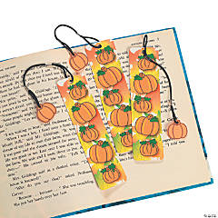 Pumpkin Bookmarks with Charm