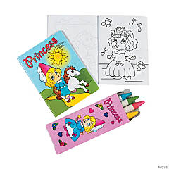 "Mini ""Princess"" Coloring Sets"