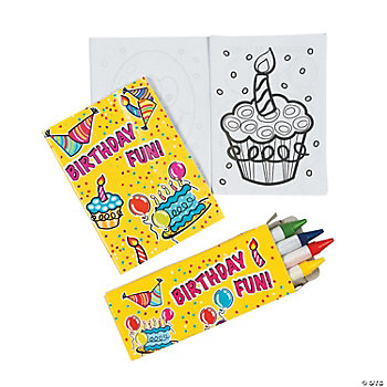 Mini Happy Birthday Coloring Sets