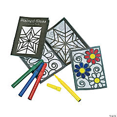 Color Your Own Stained Glass Coloring Books With Markers