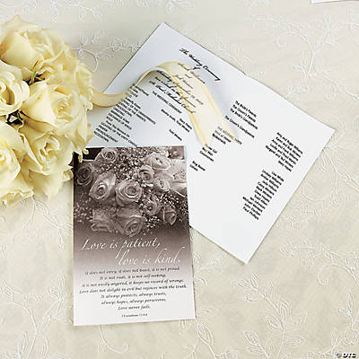 Flowers Wedding Programs