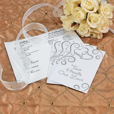 DIY Two Hearts Wedding Program kit