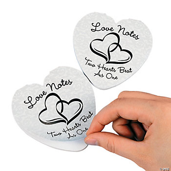 "Two Hearts Wedding ""Love Notes"" Notepads"