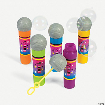 12 Microphone Bubble Wands