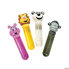 Plastic Big Zoo Animal Character Bubble Bottles