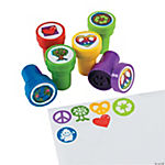 Plastic Peace Sign Stampers