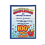 """100th Day Of School!"" Certificates"