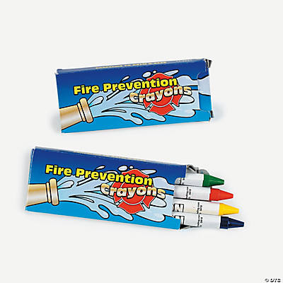 Fire Prevention Crayons