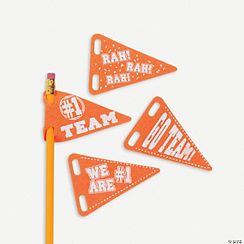 Pencil Pennants - Orange