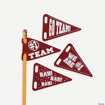 Pencil Pennants - Burgundy