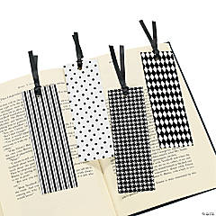 Black & White Flocked Bookmarks