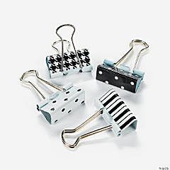 Black & White Binder Clips