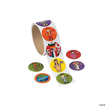 Multicultural Sticker Rolls Oriental Trading Discontinued