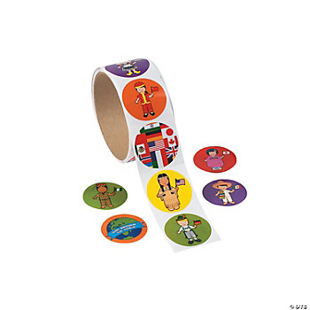 Multicultural Roll Stickers
