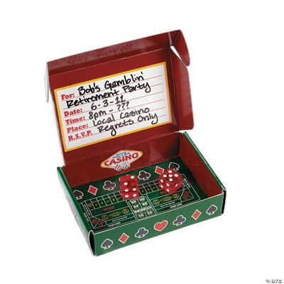 Casino Invitations in A Box Discontinued