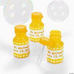 Personalized Gingham Bubble Bottles - Yellow
