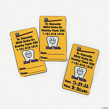Personalized Dental Visit Reminder Magnets