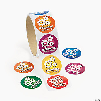"""Teamwork"" Roll Stickers"