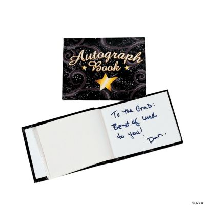 """Black And Gold """"Autograph"""" Books"""