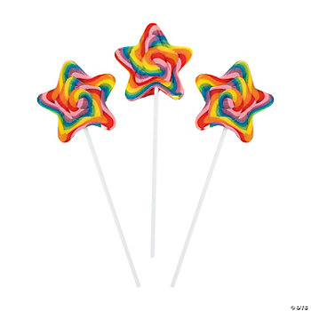 Star-Shaped Swirl Pops