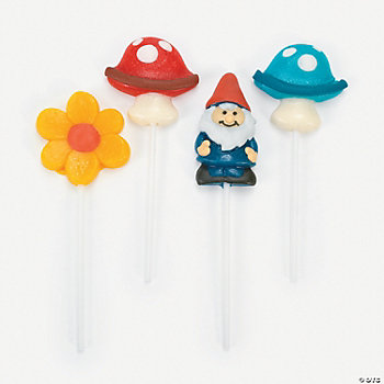 Gnomes And Toadstool Frosted Suckers