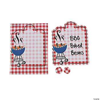 Red Gingham BBQ Labels