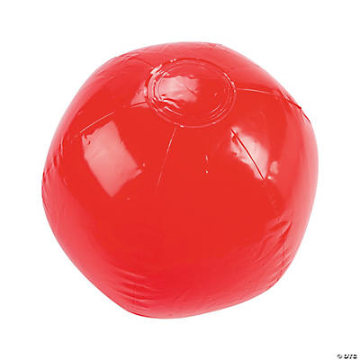 Inflatable Red Beach Ball