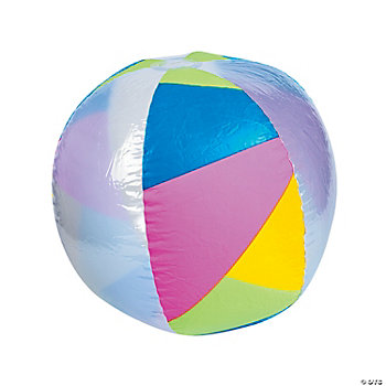 Bright Geometric Pattern Beach Ball
