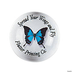 Personalized Dome Butterfly Paperweight